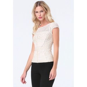 Bebe Lace Panelled Top